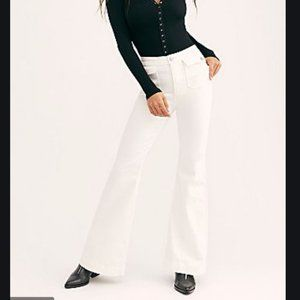 NWT Free People CRVY Jeans Optic White 29